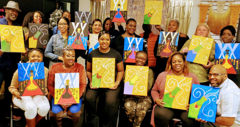 Sip and Paint Holiday Party
