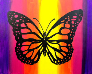 paint party butterfly